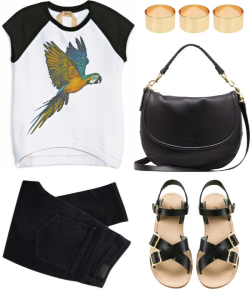 thepolyvorecollection:  Parrot by animalcloset featuring a mulberry satchel