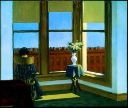 loverofbeauty:  Edward Hopper:  Room in Brooklyn  (1932)