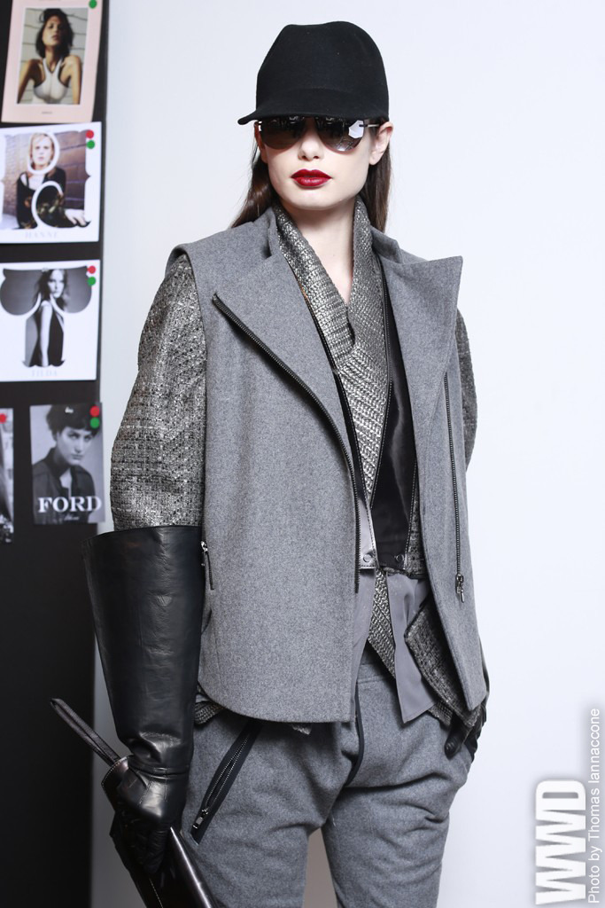 womensweardaily:   A look from Kenneth Cole's fall sportswear collection.