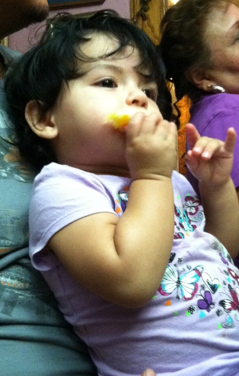 munchin on some orange