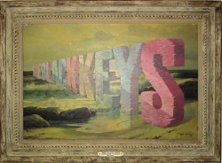 [BLACK KEYS] Wayne White created one of his famous word paintings to commemorate The Black Keys show in Nashville tonight.