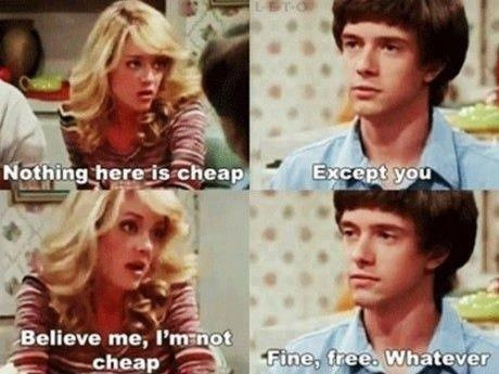Eric Foreman: when he's not getting a foot up his ass, he's being sarcastic.