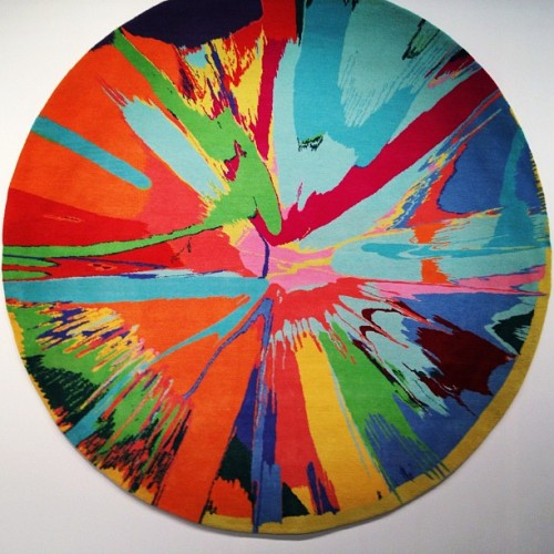 just saying, i'd be super fine walking all over this damien hirst rug.  (at The Armory Show)