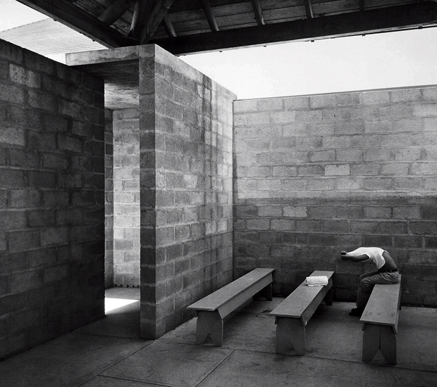 "onsomething:   onsomething   Louis Kahn + Anne Tyng | Trenton bath house, 1955 ""The Trenton Bath House gave me the first opportunity to work out the separation between the serving and the served spaces.  It was a very clean and simple problem. It was solved with absolute purity. Every space is accounted for; there is no redundancy."" Via 1"