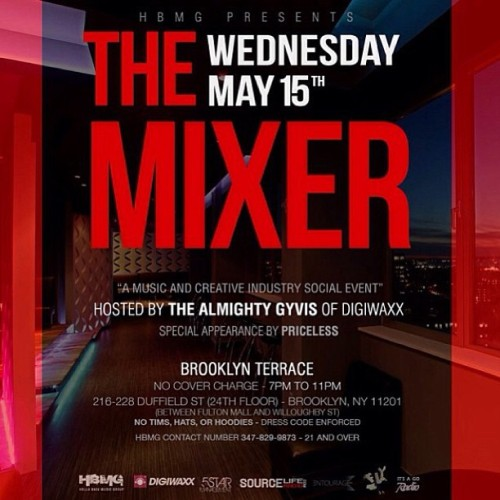 @sourceliferadio will be in the building on Wednesday May 15th. @ Brooklyn Terrace.. Broadcasting Live. S/o to HBMG.