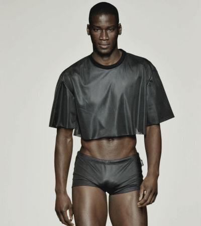 sexrova:  David Agbodji at Calvin Klein S/S 2011 Menswear Heart Attack.
