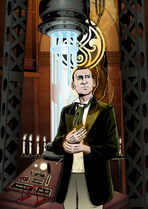 tthe-masterr:  trionaid:  Ninth Doctor Regeneration by *MikeMcelwee  IM SCREAMING THIS IS GREAT!!!
