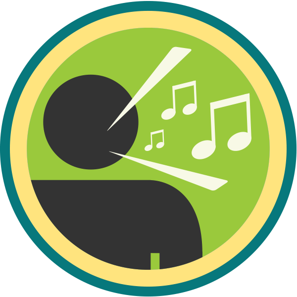 lifescouts:  Lifescouts: Vocalist Badge If you have this badge, reblog it and share your story! Look through the notes to read other people's stories. Click here to buy this badge physically (ships worldwide). Lifescouts is a badge-collecting community of people who share their real-world experiences.  I used to sing, and later on played bass also, with a band back in my awkward teenage phase (I'm allowed to say this now that I'm not a teenager anymore :p). I was just getting into rock music in general, and a band that one of my friends was starting up was looking for a vocalist, so I decided to go for it. I played three (incredibly shaky and nervous)  shows with them, before one of the guitarists fell out with the other two band members and left. Following this, there was an awkward phase where nothing really happened for a long time, and what ended up happening is the drummer and guitarist rehearsing with another guy, and founding the successful punk rock trio Kerplunk, who in their prime played some little known venue called the Royal Albert Hall. Anyone who knows me/has heard me sing will know that their style was something I'd never have been able to pull off! Although I was a little bit stung at first that these guys had been rehearsing without me, I realised that it was a bit silly - to start, I spent many weekends away from home, which really wasn't practical. At this time, in face of all the evidence, I openly admit that I was the weakest link in that group. But that's okay with me - it spurred me to improve musically, and in the following years that's exactly what I did. I've not been a vocalist in a band ever since - I've played bass in a few groups and ensembles here and there, and I play piano occasionally. I'm also more comfortable with my singing, because I know I'm just a guy with a mediocre voice who can occasionally hit the right notes, and I have no pressure to be anything more than that. I don't know if I'll be likely to give up my own musical freedom any time soon. I think I enjoy it too much sometimes :)