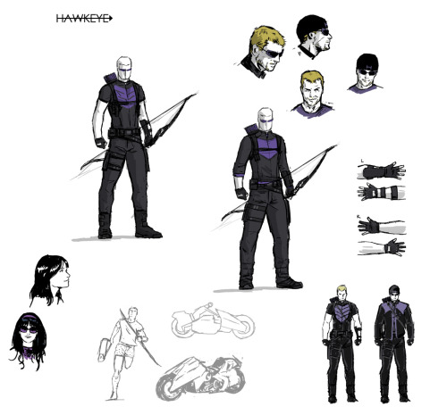 joearlikelikescomics:  David Aja sketches for Hawkeye