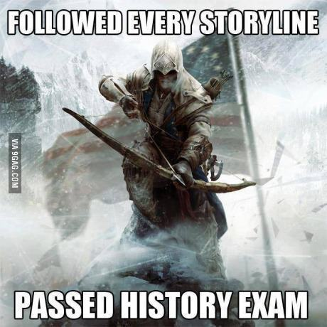 9gag:  Passed my history exam