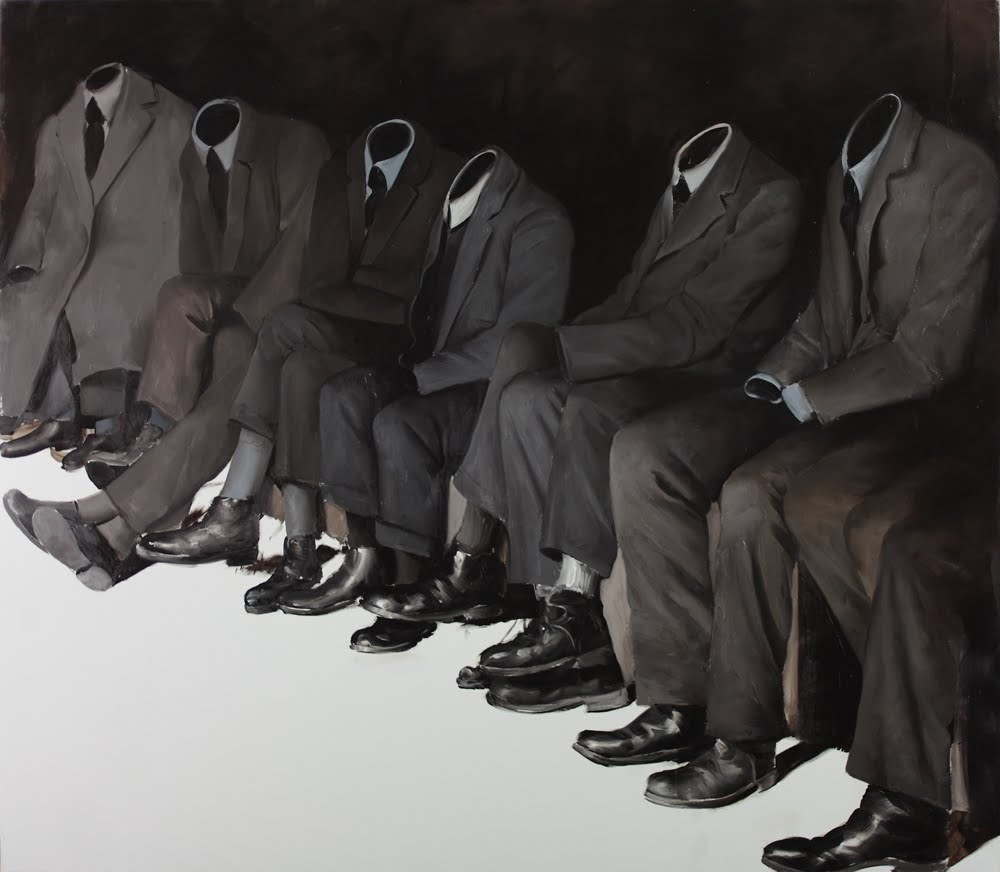 2headedsnake:  Mircea Suciu 'Wise Guys', 2011 oils on canvas