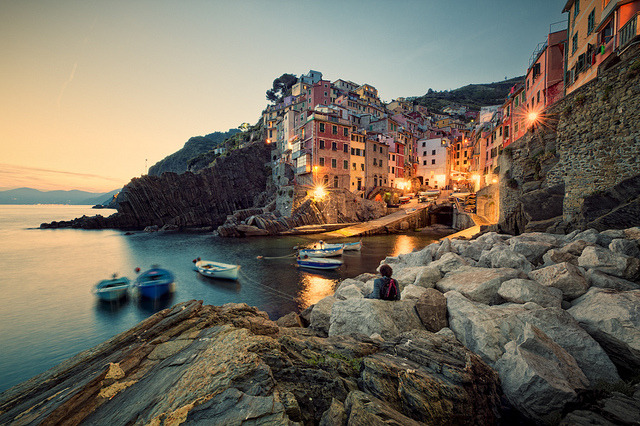 Sundown Showdown in Riomaggiore by Allard One on Flickr.