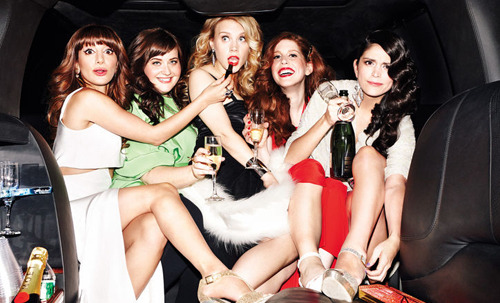 sociopathicdorito:   Vanessa Bayer, Aidy Bryant, Kate McKinnon, Nasim Pedrad, and Cecily Strong for Glamour Magazine's April 2013 issue (x).  omg dyiNG BECAUSE