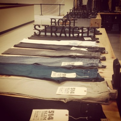 Really liked the #levis display at #jcp - who doesn't love #vintage #typography?