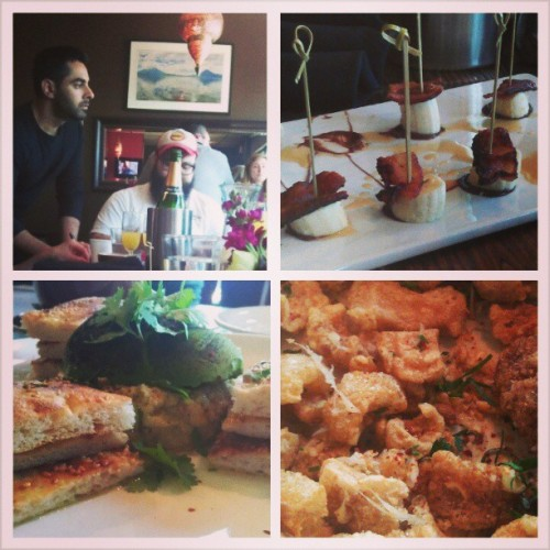 Bruuuuunch. @ihateyourface666 @niraj26  (at Apothecary Cafe & Wine Bar)
