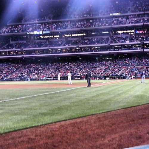 Sitting on the 3rd base line at the Phillies