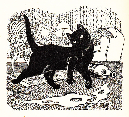 English artist Dame Eileen Mayo illustrates the best cat stories of 1953.