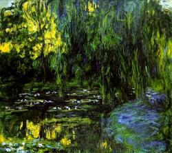 Water Lily Pond and Weeping Willow, Claude Monet, 1916-1919.