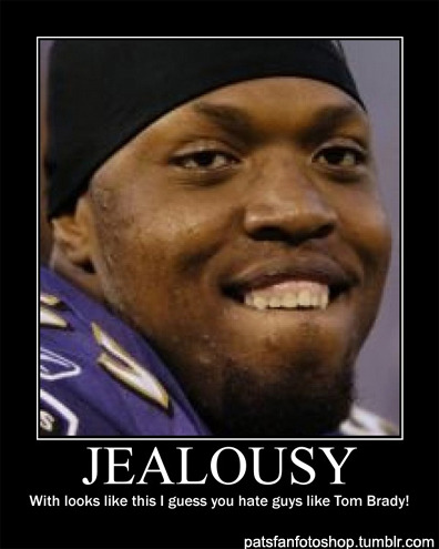 Wonder why Suggs hates Tom Brady and the Patriots so much?