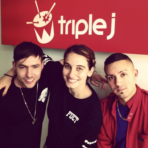 Triple J radio, Melbourne, with Brenmar & Nina Las Vegas,