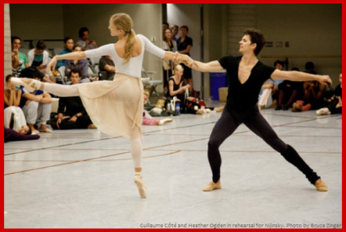 How's this for romance: real-life couple Heather Ogden & Guillaume Côté of the National Ballet of Canada will be guest-starring with Hamburg Ballet in tonight's Valentine's Day performance of Nijinsky!