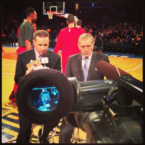 First gig of #2013 away feed #nba @nyknicks @odxtrailblazzers @thegarden  (at Madison Square Garden)