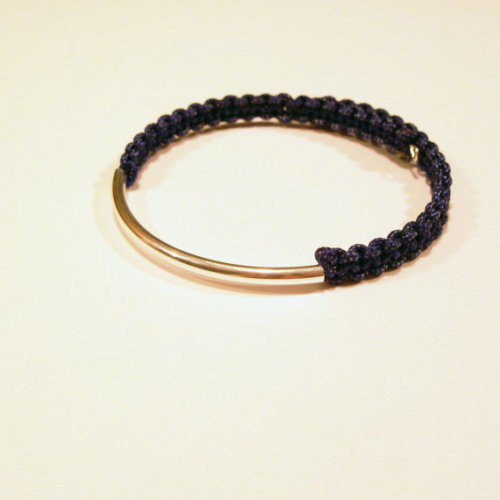 brand new in my etsy shop // nautical navy blue silver bar rope bracelet on adjustable memory wire // $9 www.ammame33.etsy.com