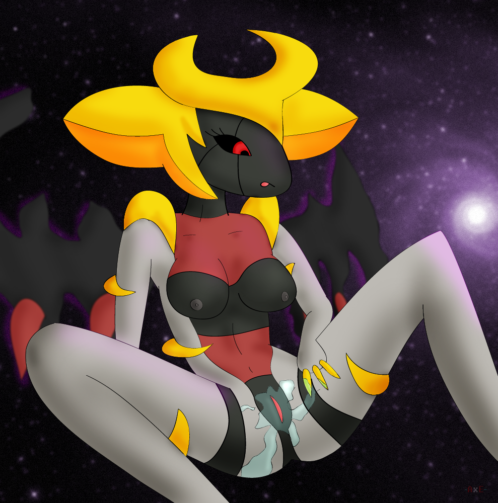 giratina34:  For some reason, she got very wet :P It took me far too long for this fairly simple picture. I was planning to put someone who would have oral sex with her, so it took me two days to think about who would that be. In the end, I gave up with the idea and the result is this XD