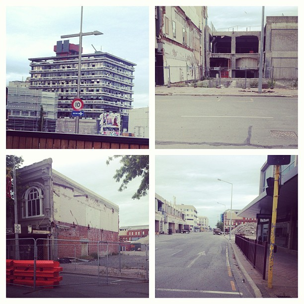Christchurch after the earthquakes #dead #depressing #thisisallthatsleft #abandoned