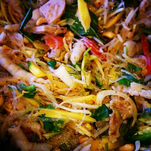 #chickenFeetSalad, first time making it. easy breezy, & #yummy! :) #mienFood#mienSalad#spicy#food#salad#nomNomNom