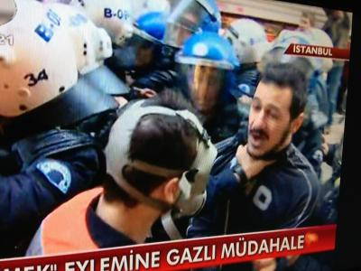 "Police Attacks Turkish CinemaFilm critics and filmmakers attacked by the Turkish police. FIPRESCI member taken in custody. We are terrified by the fact that our respectable colleague, film critic Berke Göl, member of the FIPRESCI jury at the ongoing Istanbul Film Festival, has been taken in custody by the police today during a meeting organized to protest the demolishment of the historical Emek Theatre, former main venue of the festival. At the news broadcast of television channel Kanal D it is clearly seen that our colleague is almost being strangled by a police officer. We demand from the authorities the immediate release of Berke Göl and to punish the responsibles of this violent attack against the Turkish film industry and cinephiles. Among the peaceful protesters unjustly attacked by the police with tear gas and water cannon, simply for insisting to enter the historical building, were Turkey's leading filmmakers, actors and film critics. Director Costa-Gavras supported them in person right after receiving his Life Time Achievement Award. Acclaimed directors Mike Newell and Marco Bechis also sided with their Turkish colleagues. Public property Emek Theatre is a part of a historical building block called Cercle d'Orient which is being turned into a shopping mall. Emek Theatre is alleged to be dismantled and carried to a higher level of the shopping mall. But Turkish filmmakers and critics are against the project which does not only destroy the Emek Theatre and changes its concept but also ruins the ""Yesilcam Street"", which has given its name to a big part of Turkish film history.FIPRESCI The International Federation of Film Critics Munich/Istanbul, April 7, 2013"