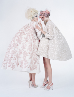 """Couture's Outre Attitude"" for W April 2013 photographed by Tim Walker and styled by Edward Enninful"