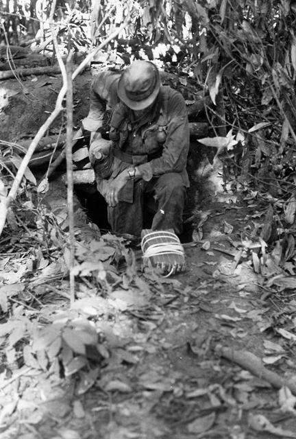 vietnamwarera:  Preparing to blow an enemy bunker, 1969.