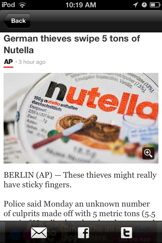 Nobody don't be messing with my #Nutella !!!!! O_O