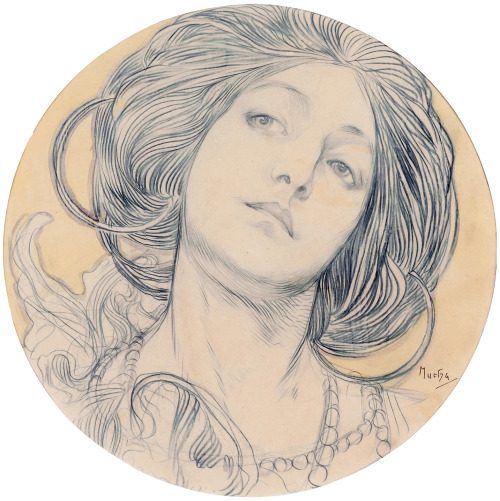 fuckyeahalphonsemucha:  This looks like Marushka, Alphonse Mucha's wife, but I don't know for sure that she was the model for this illustration.