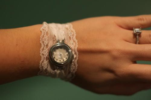 truebluemeandyou:  DIY Lace Watch Band Tutorial from A Law Student's Journey here. This is so much easier than it looks because ribbon crimps are used. Also, the one place I have learned not to scimp is on clasps. Buy the best quality you can so you can easily open and close them!