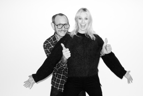Me and Karolina Kurkova at my studio
