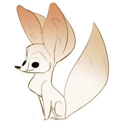 Fennec Fox doodle from work today