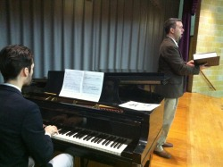 Nathan Wilson and Alden Gatt performing Jesse Stuart Songs in Yonkers.