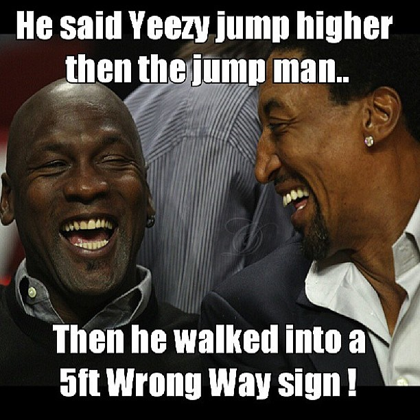 sneakerfilescom:  This had us laughing. Via @klone____________ #michaeljordan #kanyewest #scottiepippen