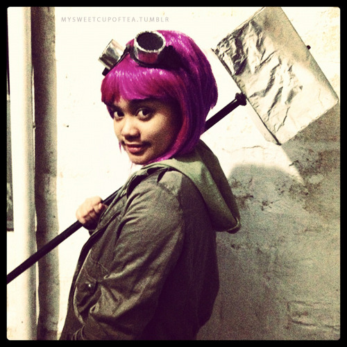 Was Ramona Flowers from Scott Pilgrim Vs. The World for our company's Movie Cosplay-themed Christmas Party :)
