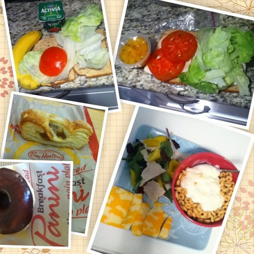 My #breakfast #banana #yogurt #sandwich (#tomatoes #lettuce )#lunch #peaches #sandwiches #tomatoes #lettuce #turkey #dessert #chocolatedip #donut #apple #supper #cheese #lettuce #turkey #pepper #yogurt #cereal #may14 #tuesday#instadaily #instafood #hkiger #hkgirl #fooddiary #yummy #food #lifestyle #hkig