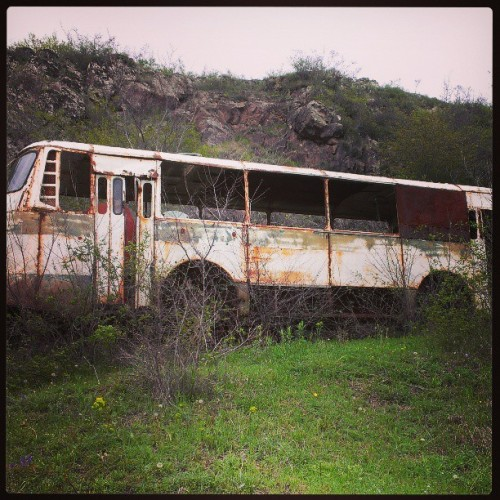 Old #bus in the field #Armenia