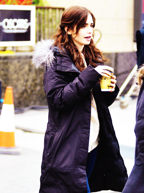 Lily Collins filming Love, Rosie in Dublin, Ireland (May 20, 2013)