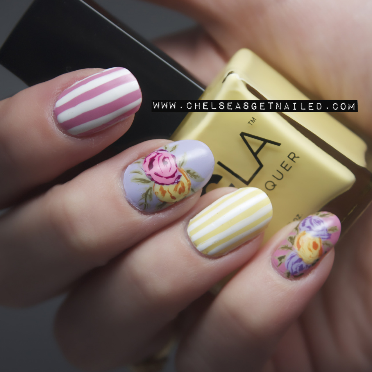Oh how I love floral nails! See my blog post here for all the info.