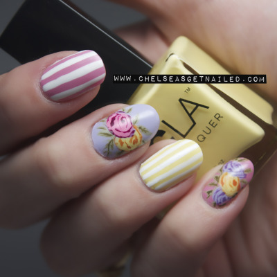 getnail-d:  Oh how I love floral nails! See my blog post here for all the info.