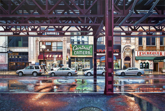 Realistic Urban Landscape Paintings of Chicago and New York by Nathan Walsh Christopher Jobson, thisiscolossal.com Many painters working from photographic source material employ a wide variety of techniques to arrive at a final image. This will involve anything from loose sketching beforehand to complex grids, where a photograph is translated into paint box by…