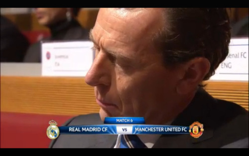 Champions League Knockout Round | Real Madrid vs. Manchester United The fixtures will be announced at 12:15 PM CET | 6:15 AM ET. The first leg will be played at the Santiago Bernabéu.  FIXTURES