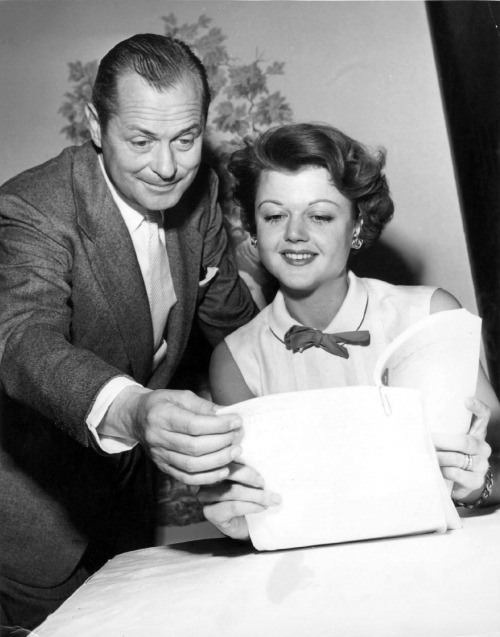 3rdplanet:  Robert Montgomery and Angela Lansbury, 1950
