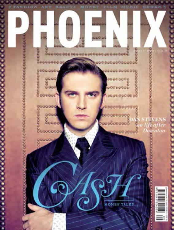 DAN STEVENS ON THE COVER OF PHOENIX MAG Downtown Abbey star Dan Stevens recently appeared on the cover of Phoenix looking rather sharp in an Angelo Galasso navy pinstriped double breasted suit. When he popped by our New York house we found out the British actor is now a New Yorker! We approve of his new wardrobe, oh yes we do.